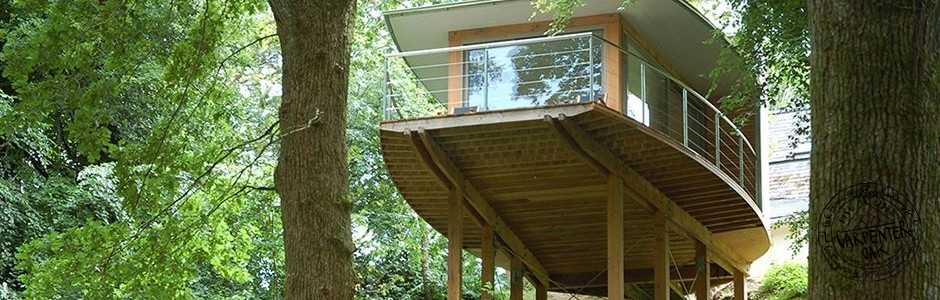 Contemporary Douglas Fir Timber Framed Tree House on Dartmoor by Carpenter Oak Ltd