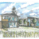 Artists Impression of New Build Eco Oak Framed Home