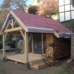 Green Oak Timber Framed New Build Garden Room in Devon by Carpenter Oak Ltd