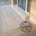 Timber Decking and Glazed Doors Detail of New Build Oak Frame Summerhouse in Devon by Carpenter Oak Ltd
