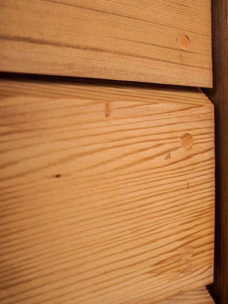 Oak panel boards on the exterior of an oak framed house