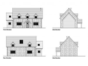 New self build timber frame elevation plans.