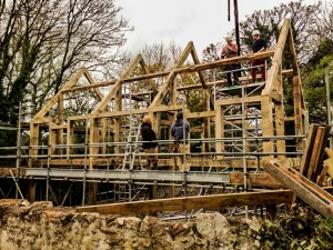 Almost there with the oak frame construction