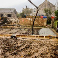 self build timber frame site in the early stages