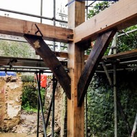 New timber frame bracing detail