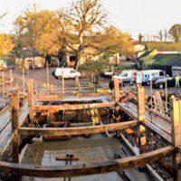 A self build oak frame taking shape