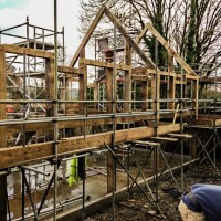 Quick progress on the timber frame build