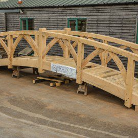Oak garden bridge fully built