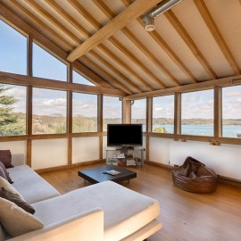 panoramic views, river dart, oak extension, contemporary timber frame