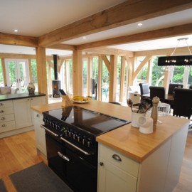 Exposed beams in the Kitchen of Carpenter Oak