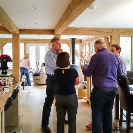 Guests at the Oak Framed House Open Day in Cheshire, December 2015