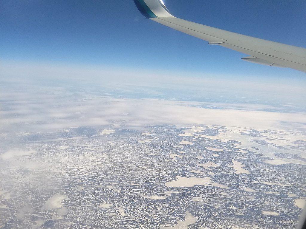 Matt's flight to Canada