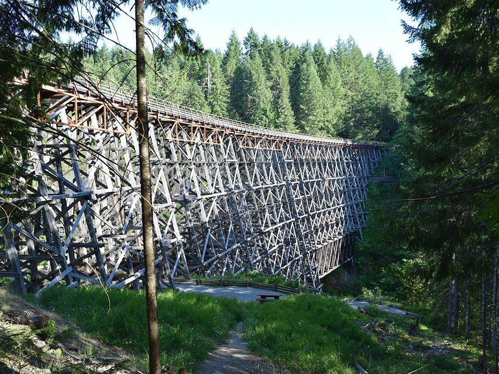 Macdonald & Lawrence timber framed bridge