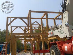 How an oak frame is built
