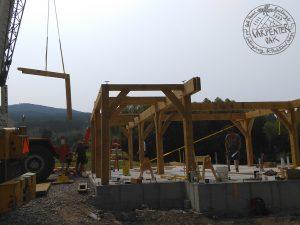 New oak framed building