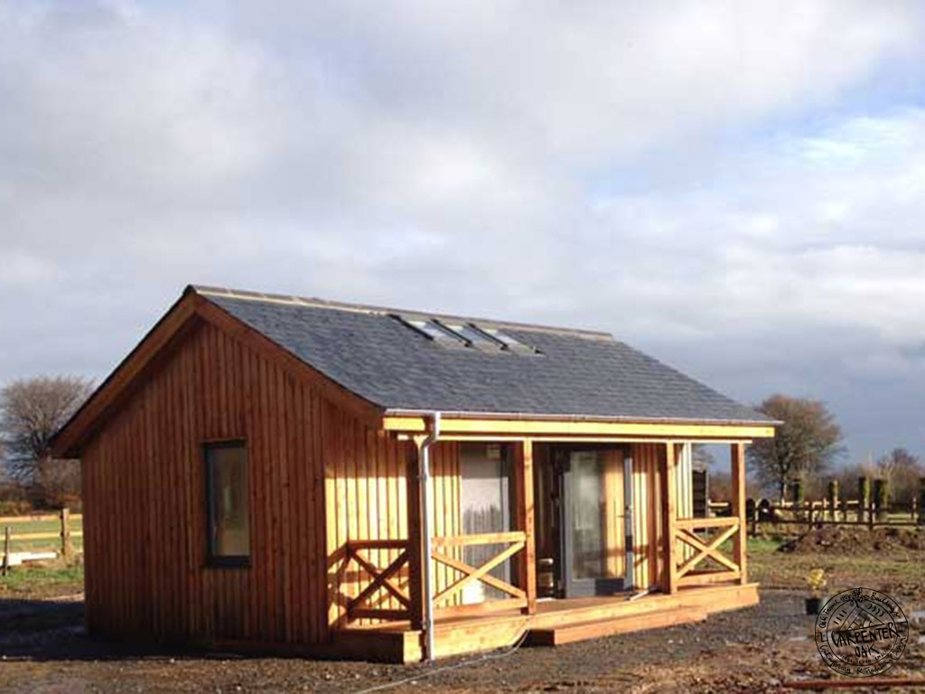 Douglas Fir Timber Framed Eco Cabin in The Sun in Somerset