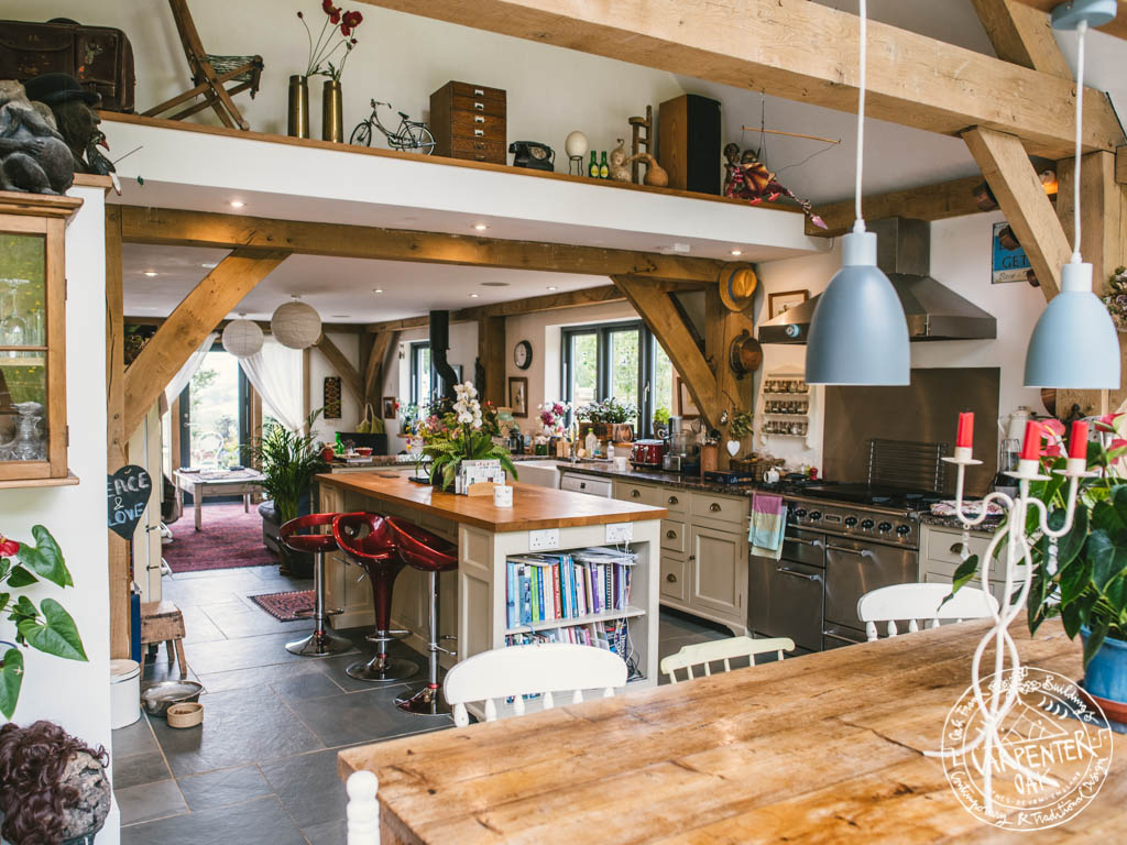 Oak Frame Self Sufficient Home Open Plan