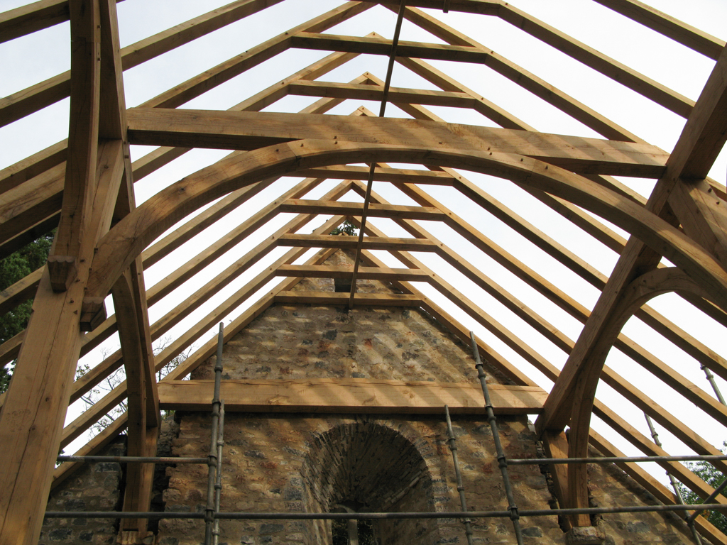 Traditional Oak Frame Roofless Structure