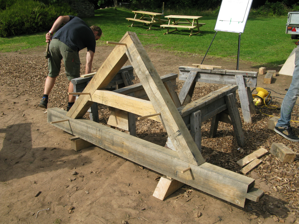 Life Size Example of Oak Frame Gable