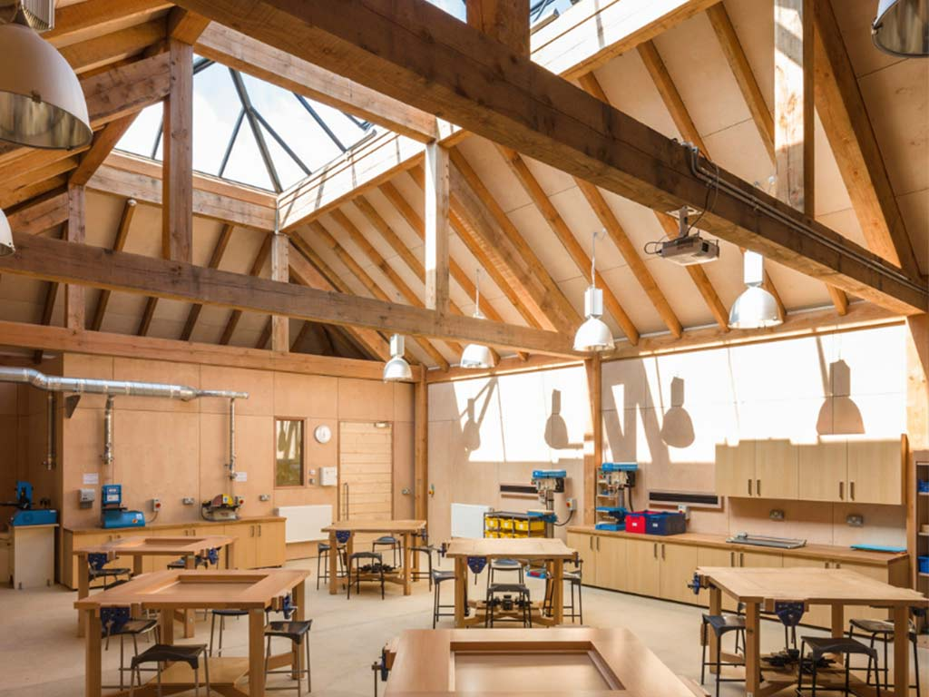 Wood In Schools A Positive Impact And Some Carpenter Oak
