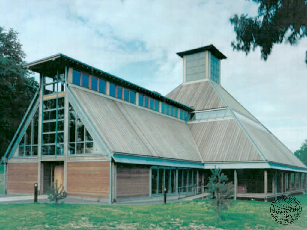Exterior of Bedales School Olivier Theatre