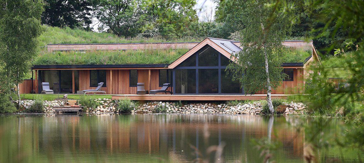 Oak Portal Frame At Tingrith Lakes Timber Engineering