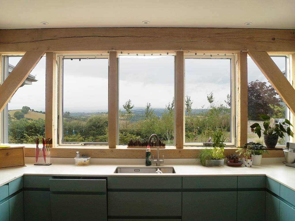 oak framed kitchen