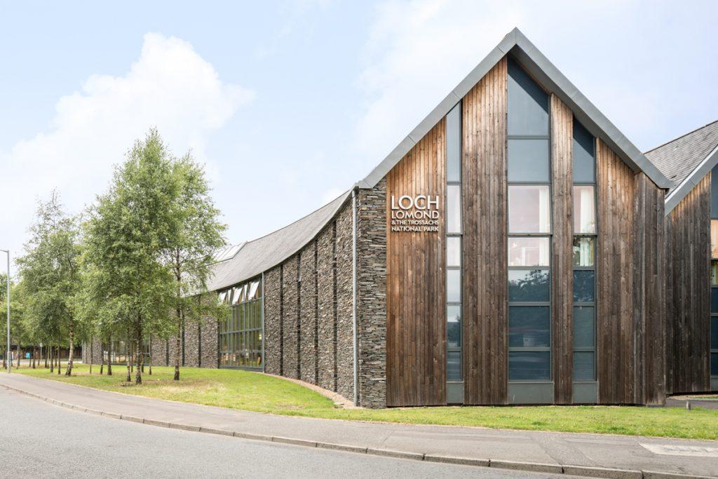 Loch Lomond Headquarters exterior gable end