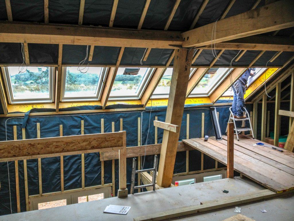 glazed roof lights orchard house carpenter oak