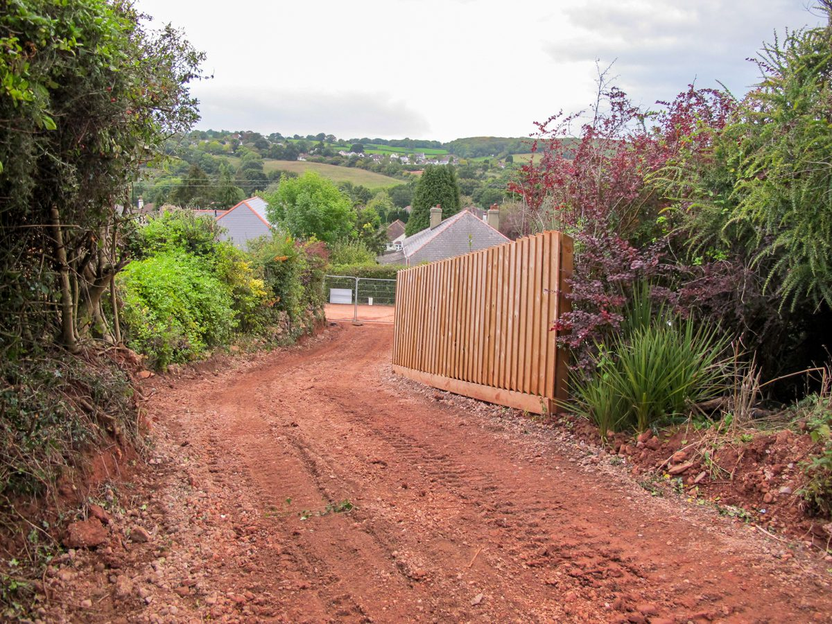 Site access to Carpenter Oak Orchard House