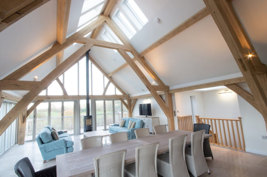 oak frame open plan