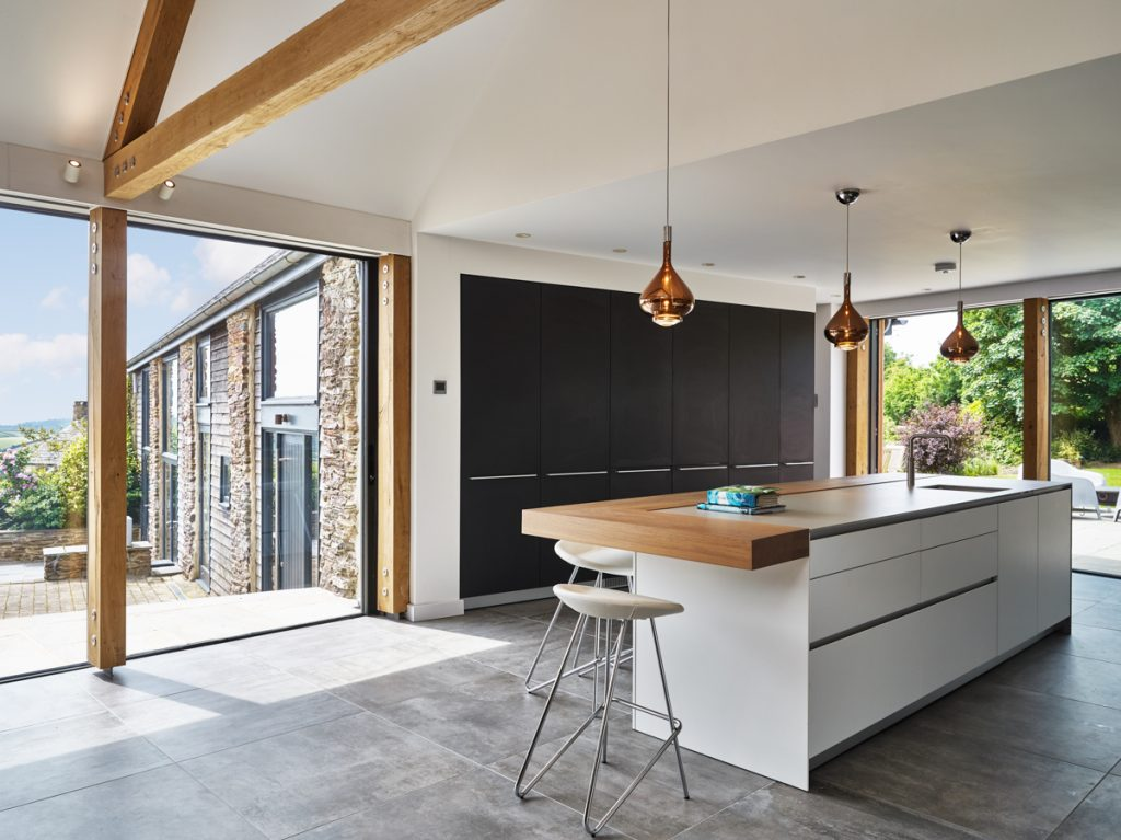 oak frame kitchen link extension