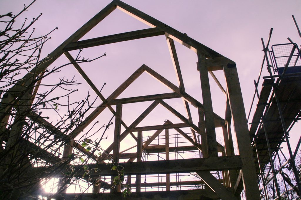 self build oak frame construction