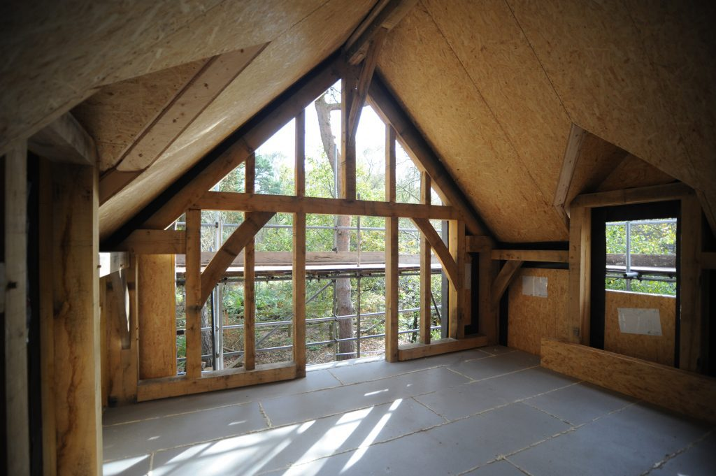 self build oak frame gable end