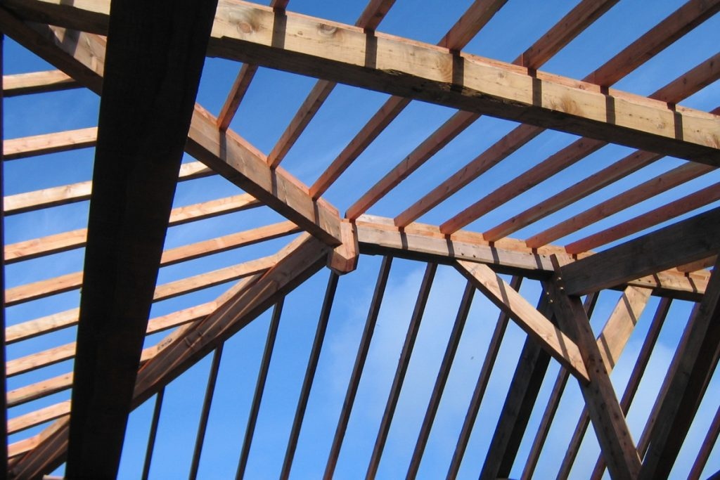 self build oak frame roof