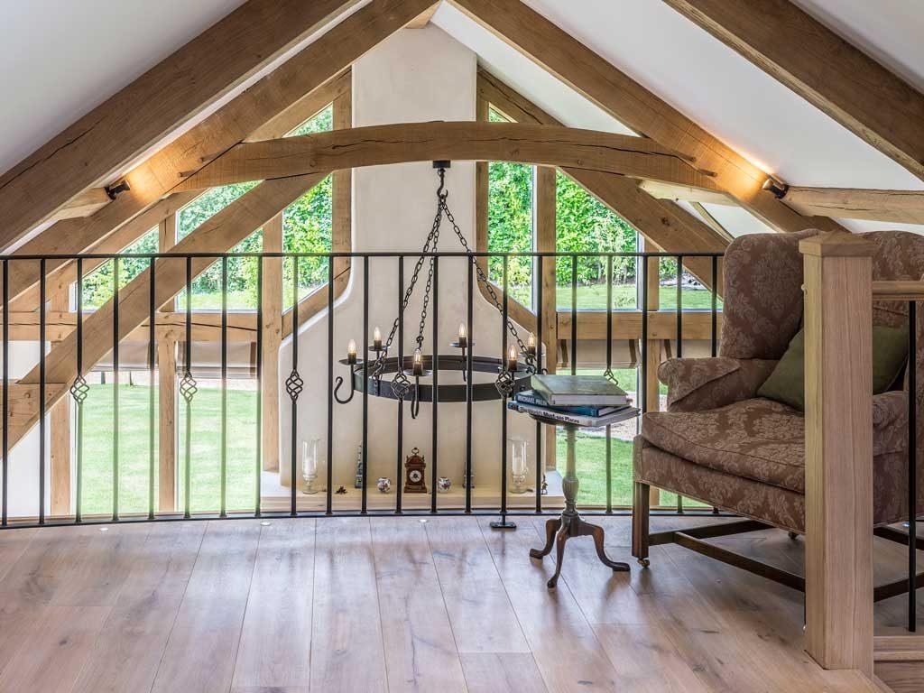 oak frame house minstrels gallery