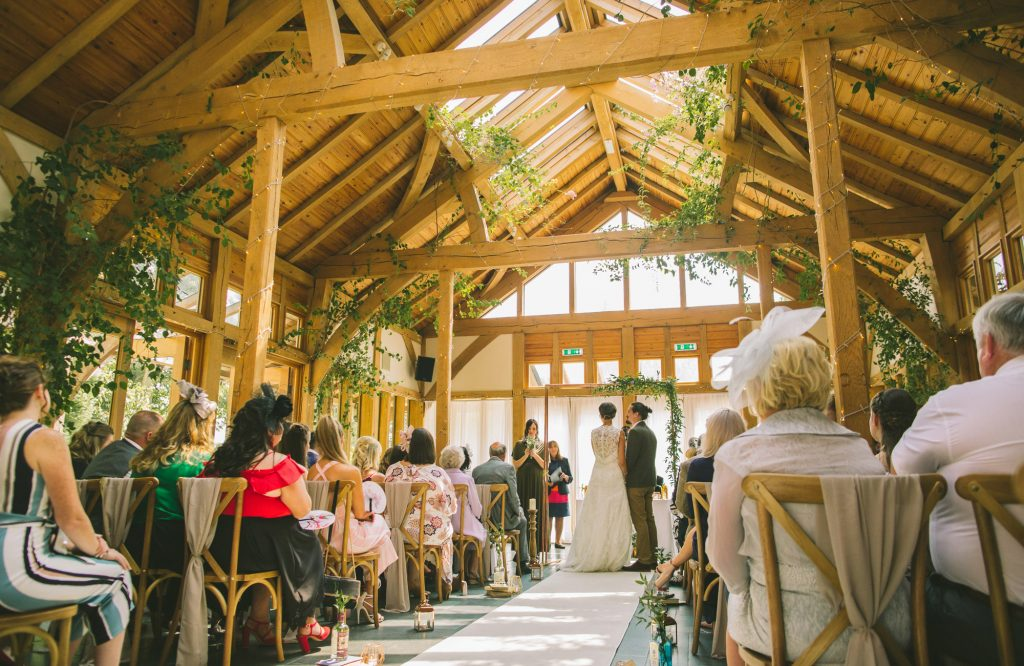 oak framed wedding venue