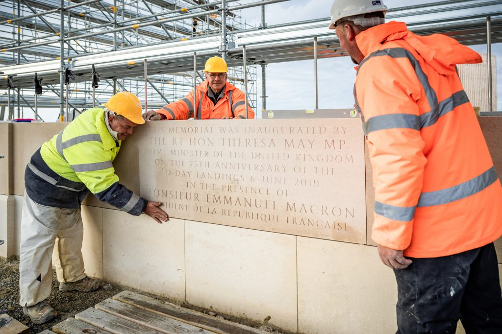 British Normandy Memorial stone work
